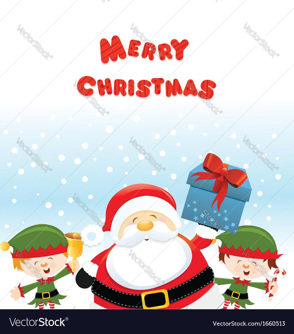 Santa With Elf vector image