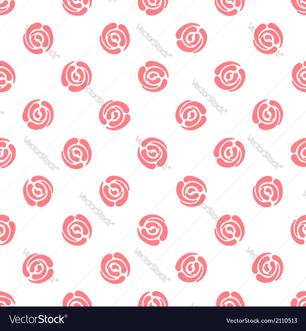 Seamless pattern with polka dots abstract roses