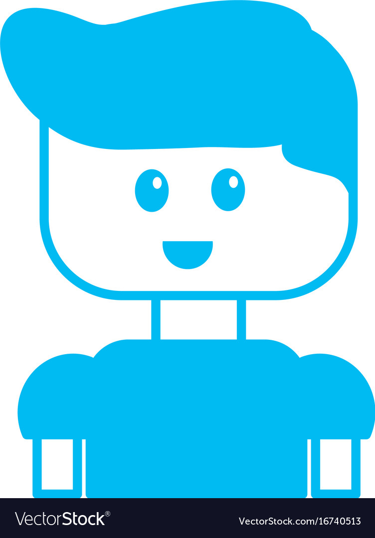 Silhouette Man Character To Video Game Technology Vector Image
