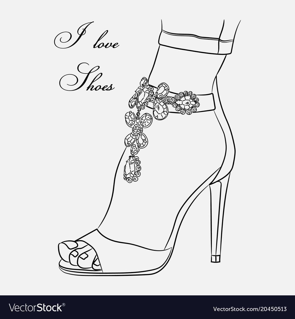 Sketch shoes decorative
