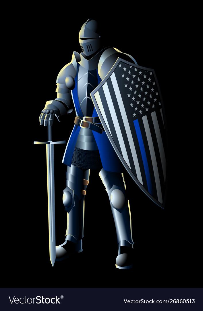Thin blue line knight
