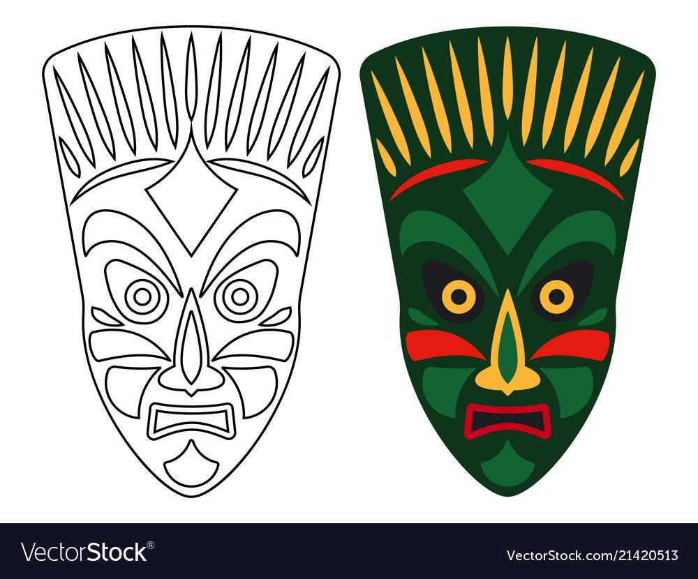 Tribal african masks