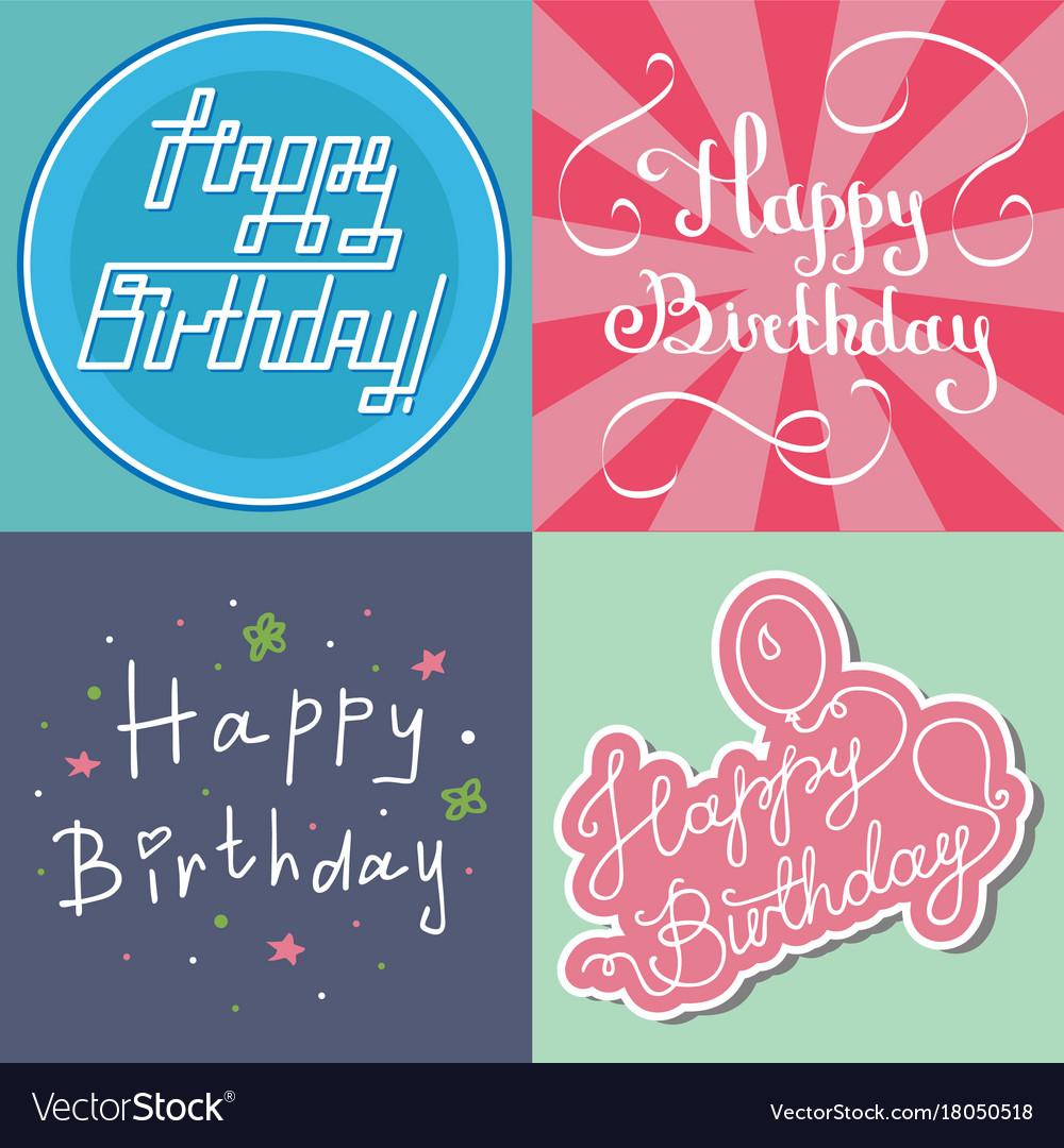 Beautiful birthday invitation card design colorful vector image