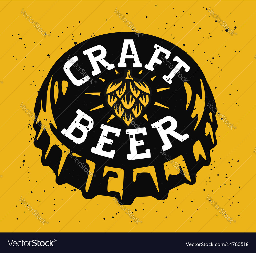 Drink beer vector image