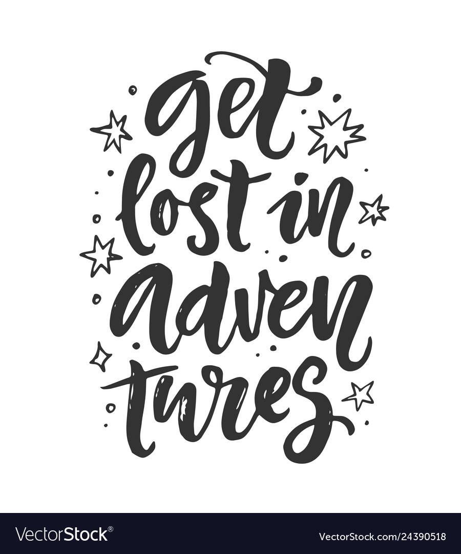 Get lost in adventures poster t-shirt print