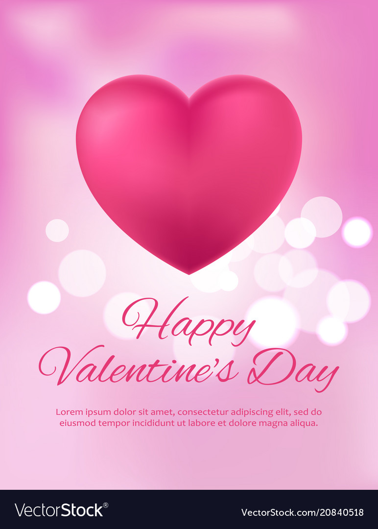 Happy valentine s day postcard