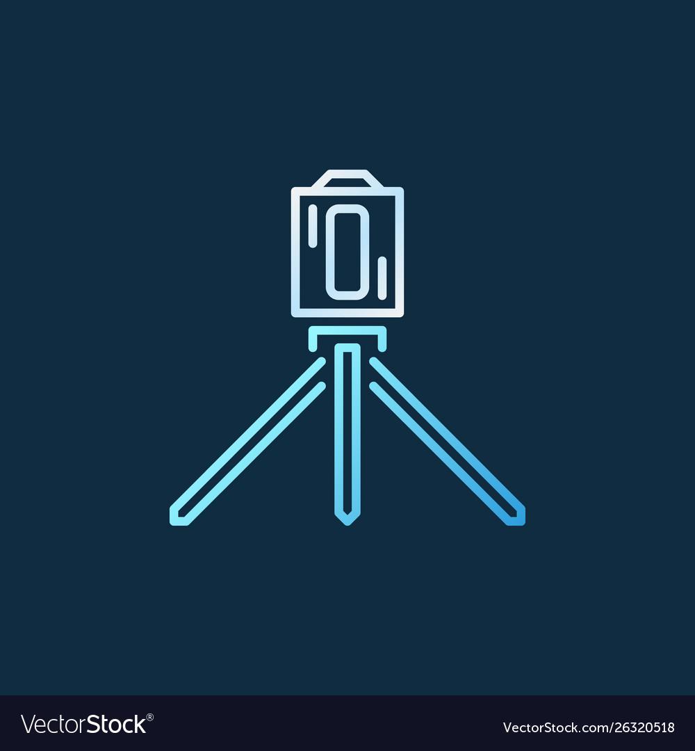 Laser level tool creative line icon on dark