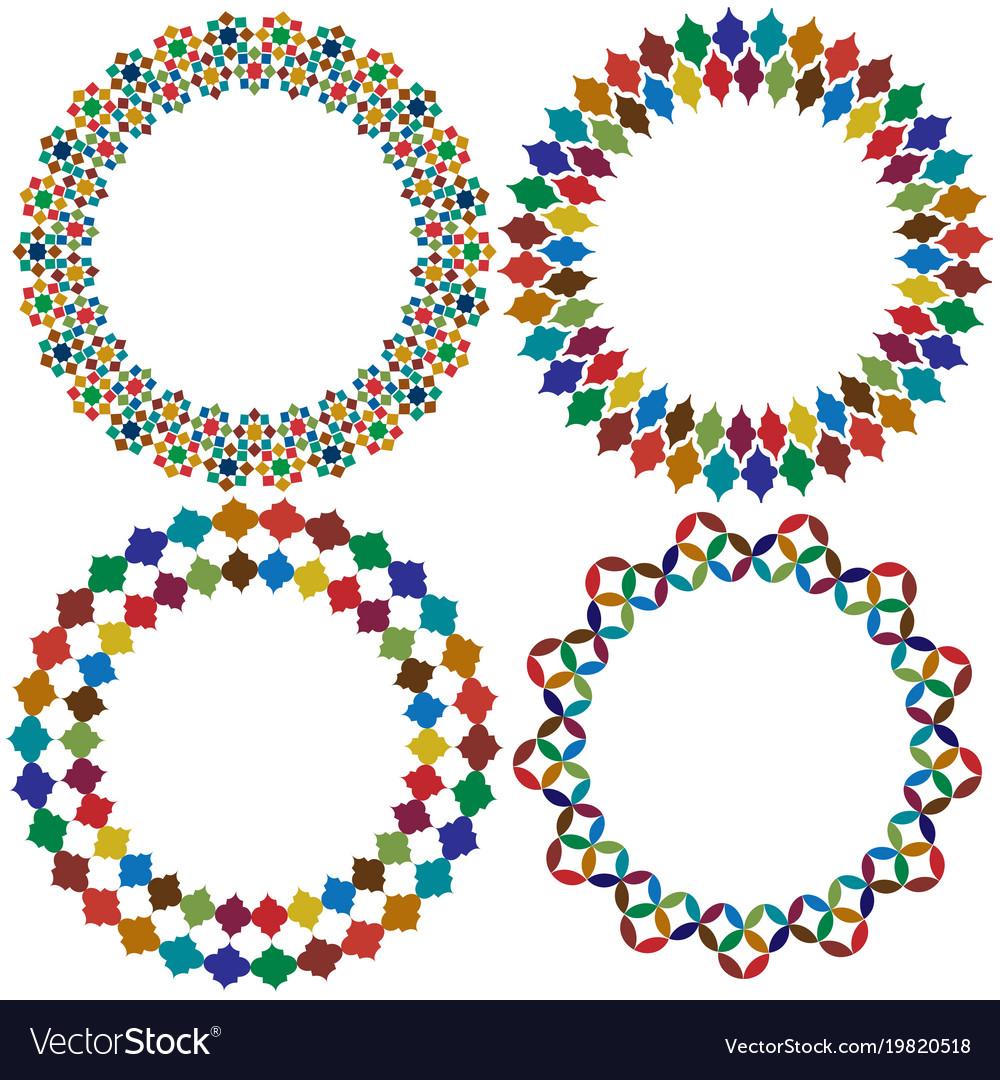 Moroccan tile frames clipart graphics