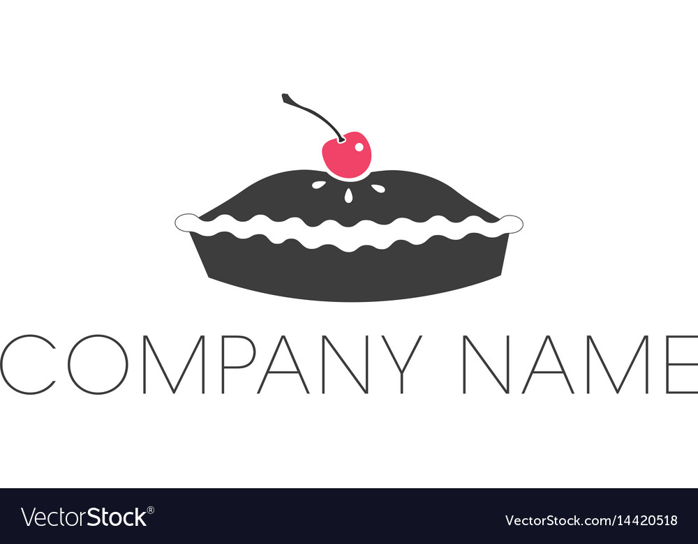 Pie logo with cherry icon and company name