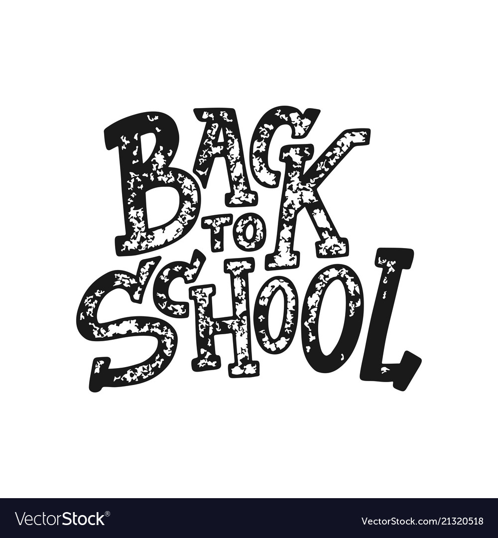 Welcome back to school lettering quote back to