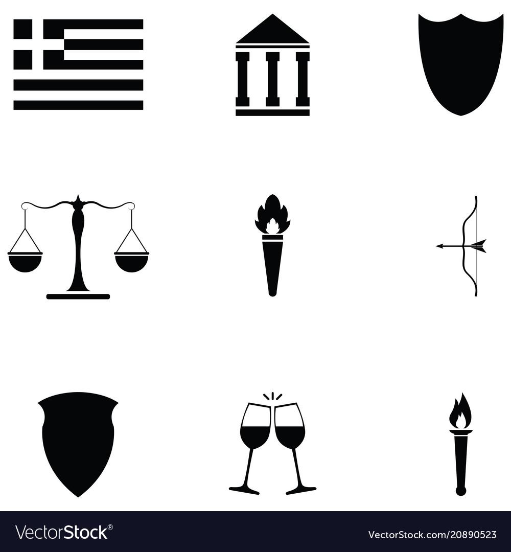 Greece icon set