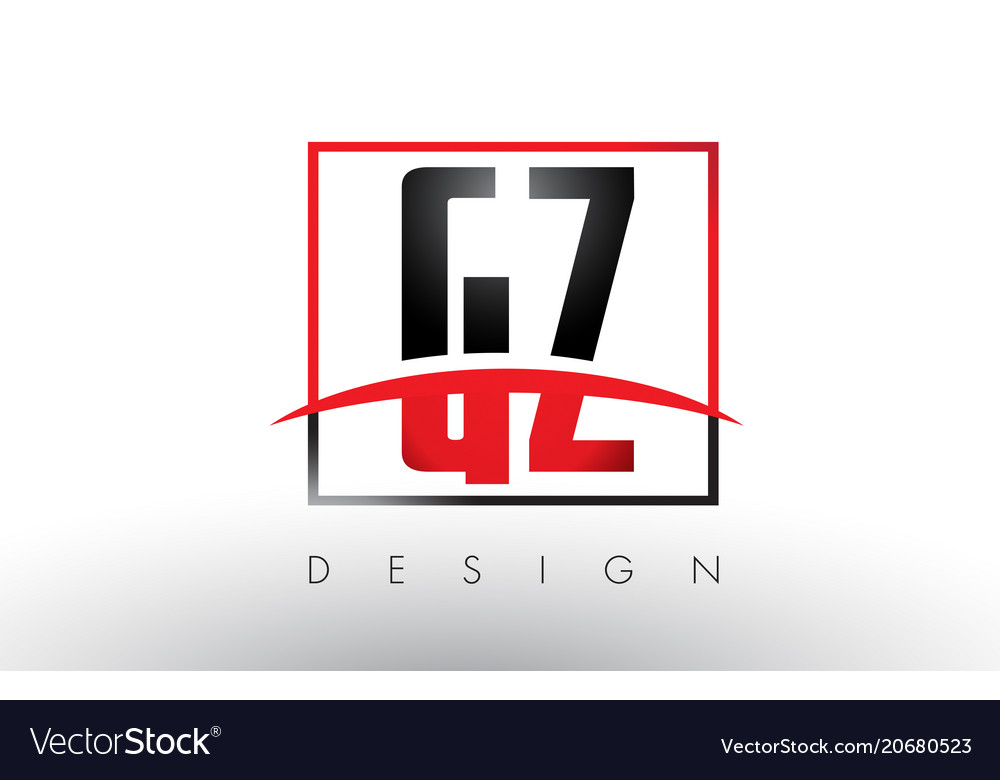 gz g z logo letters with red and black colors and vector image rh vectorstock com red and black logo b red and black logo answers