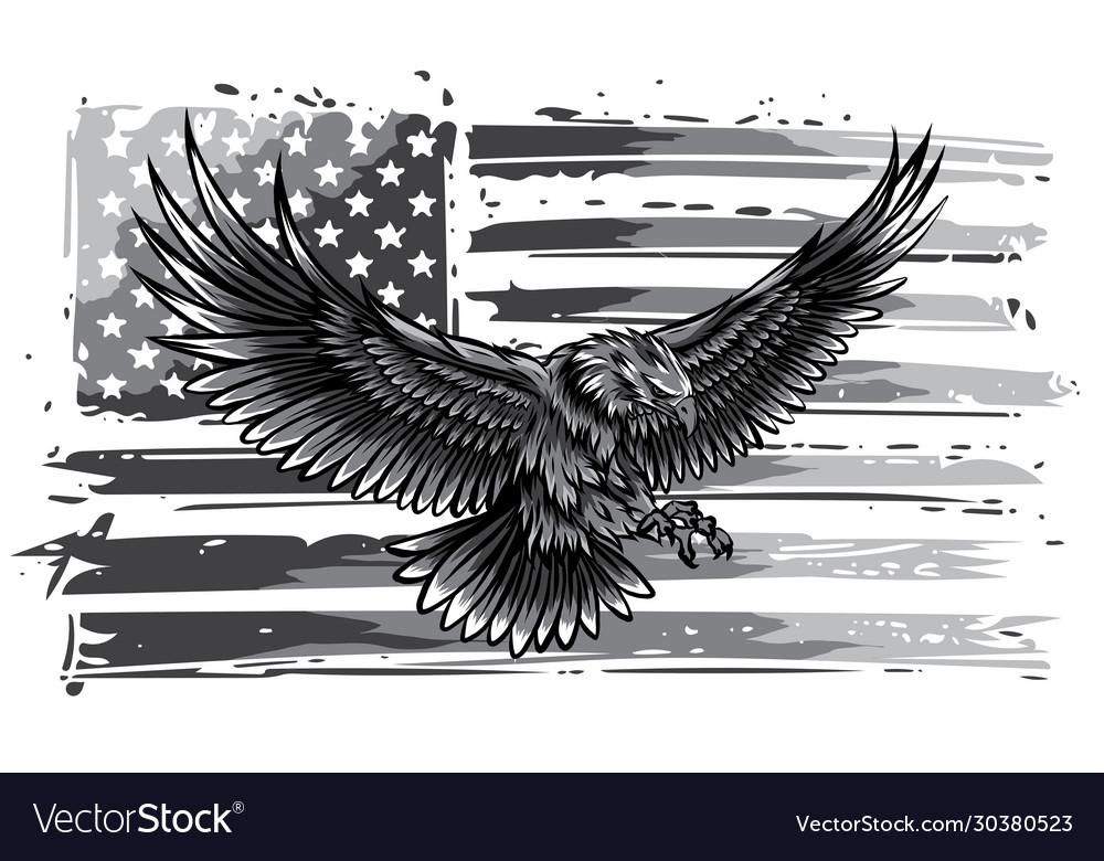 Monochromatic american eagle