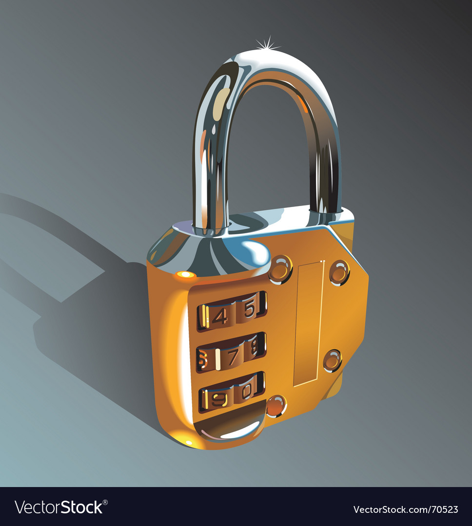 Photo-realistic padlock vector image