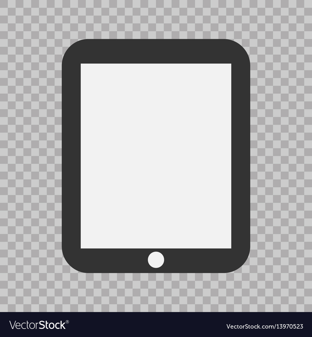 Tablet flat icon eps10 vector image