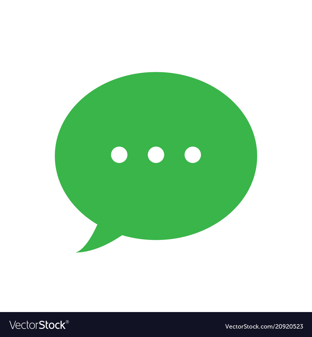 Text message icon green speech bubble symbol