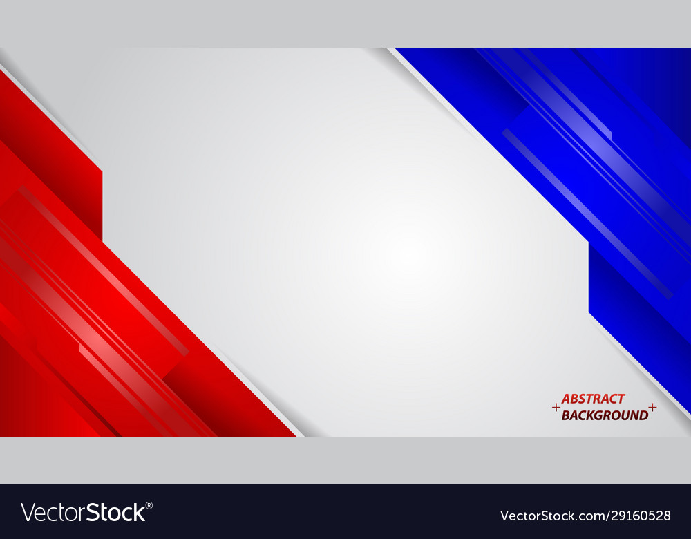 abstract red white and blue modern design vector image vectorstock