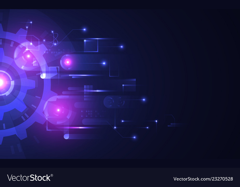 Abstract technology background futuristic glowing