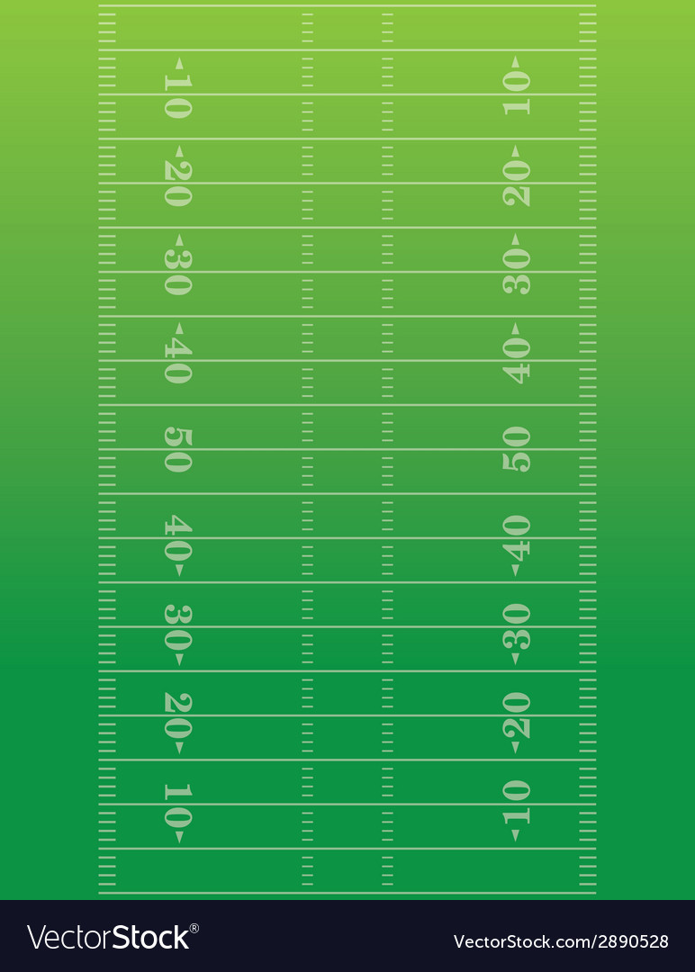 American Football Field Background Royalty Free Vector Image