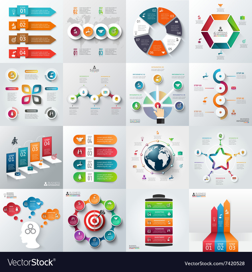 Business infographic template set