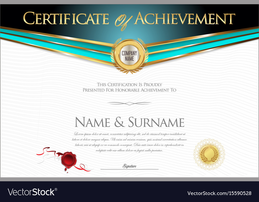 Certificate Or Diploma Retro Design Collection 2 Vector Image