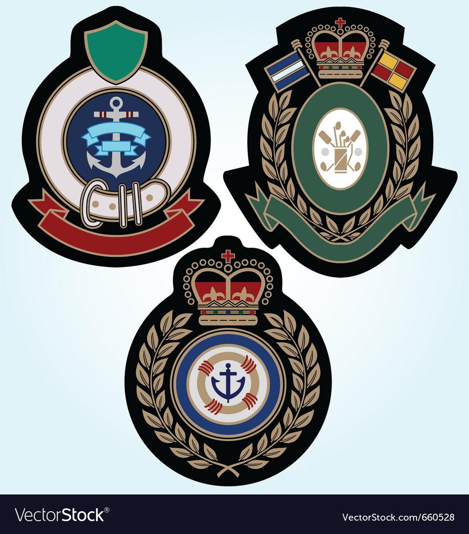 Royal sport classic badge vector image