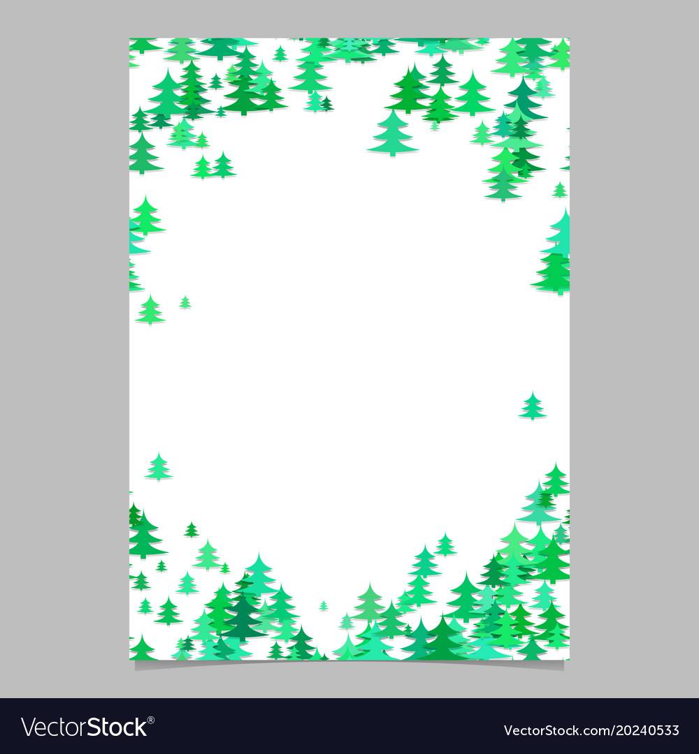 Blank Christmas Flyer Template from cdn4.vectorstock.com