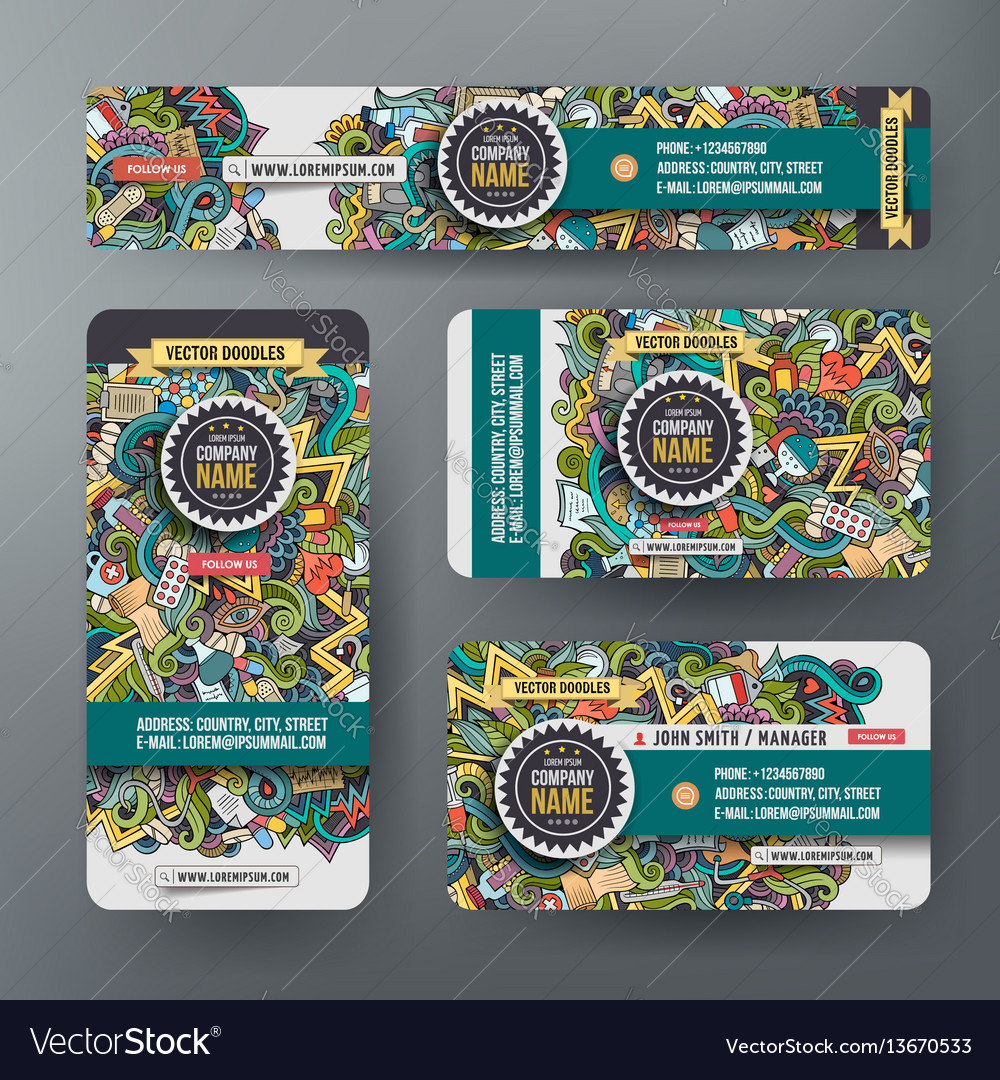 Corporate identity templates set with