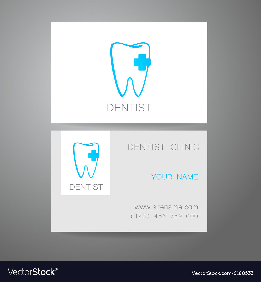 Dental clinic logo business card template vector image flashek Images