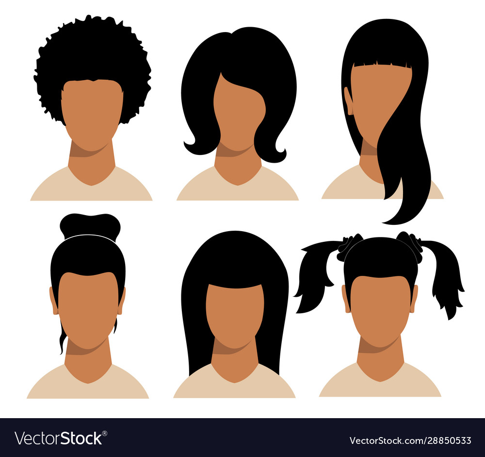 Girls hairstyles and haircut with face