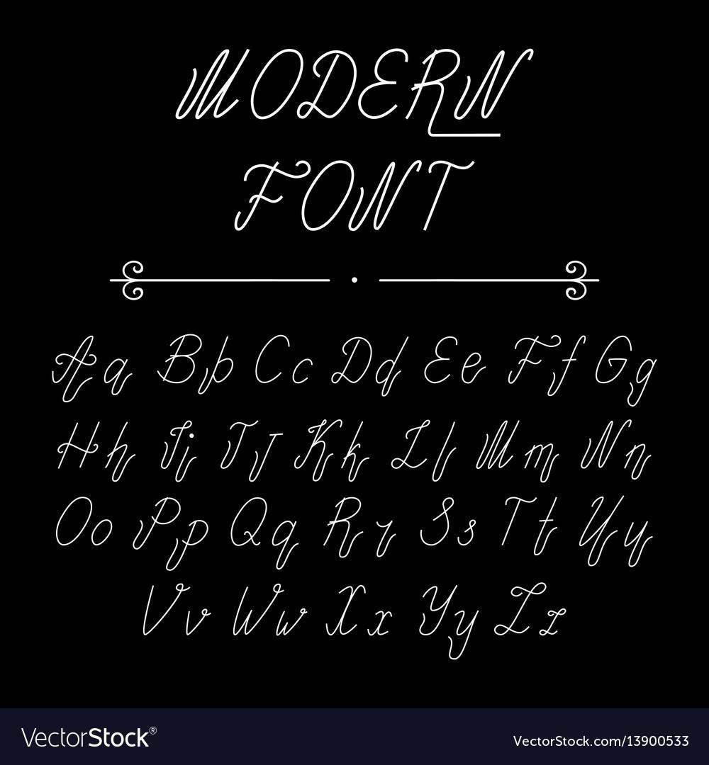 Handwritten lettering font alphabet vector image