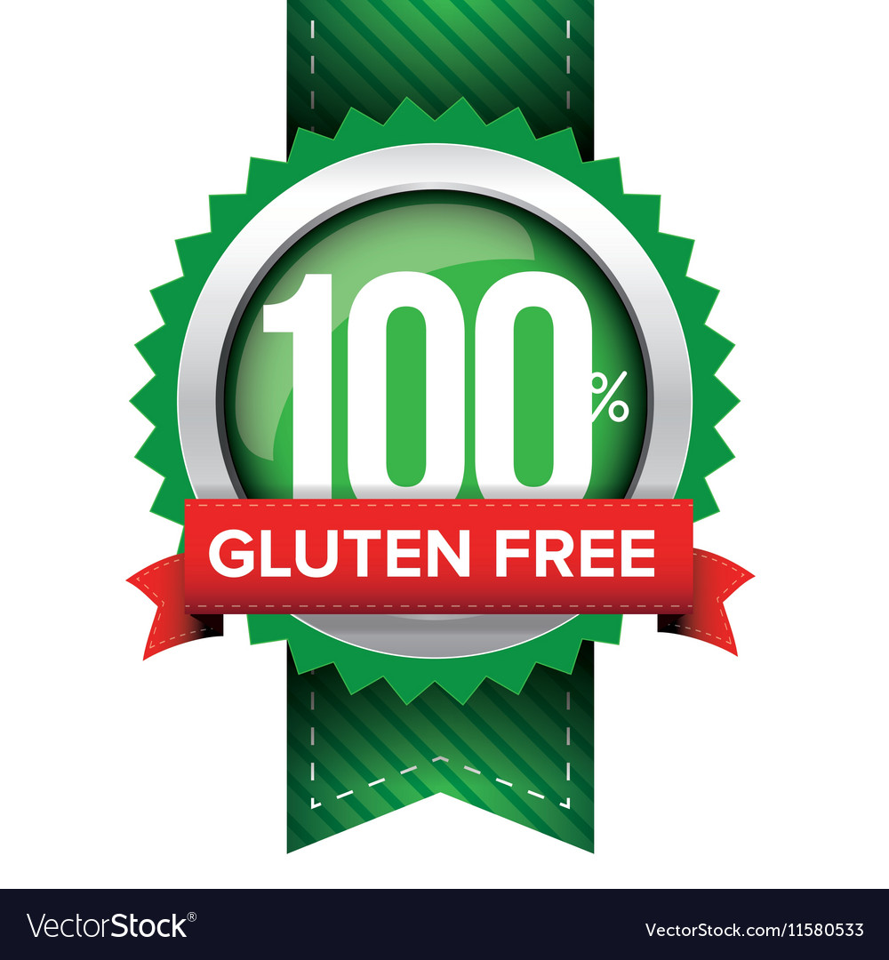 Hundred percent gluten free green ribbon