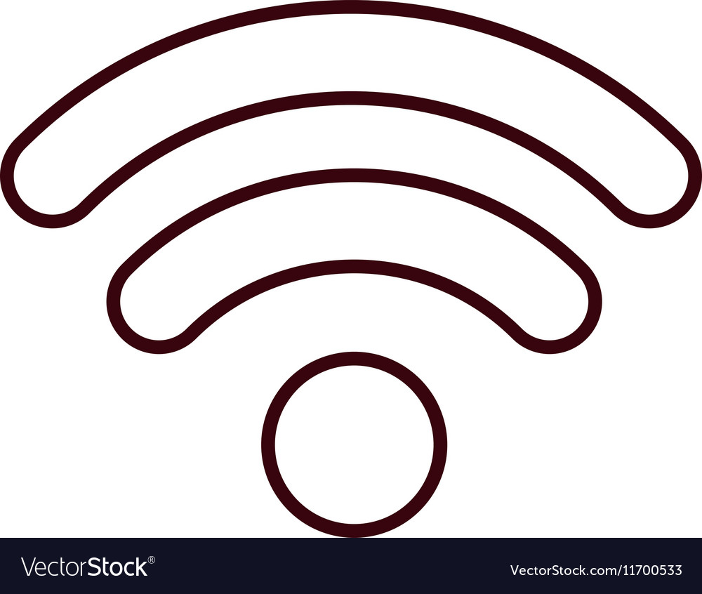 Isolated wifi weaves design vector image