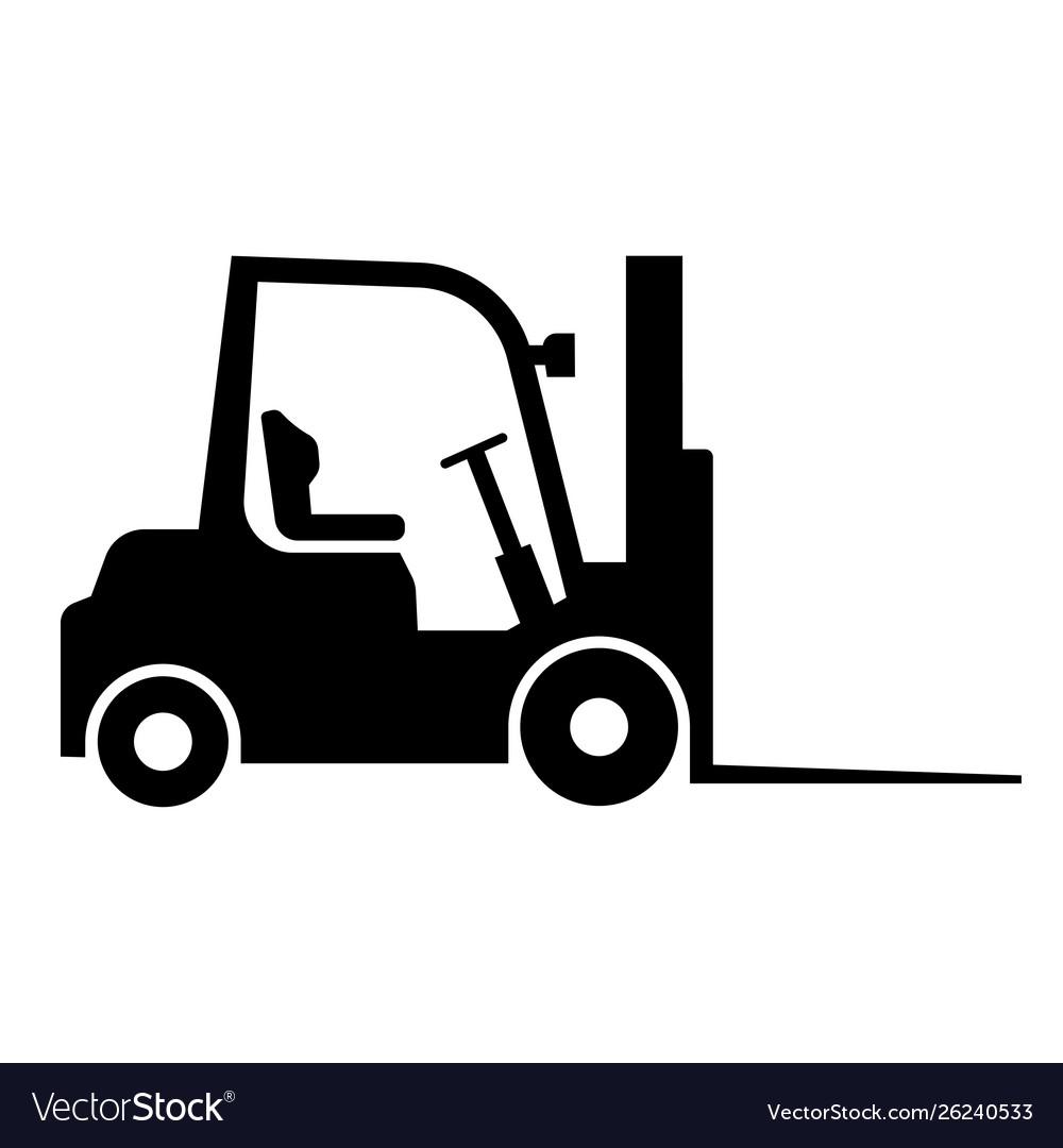 Loader black icon heavy equipment machine symbol
