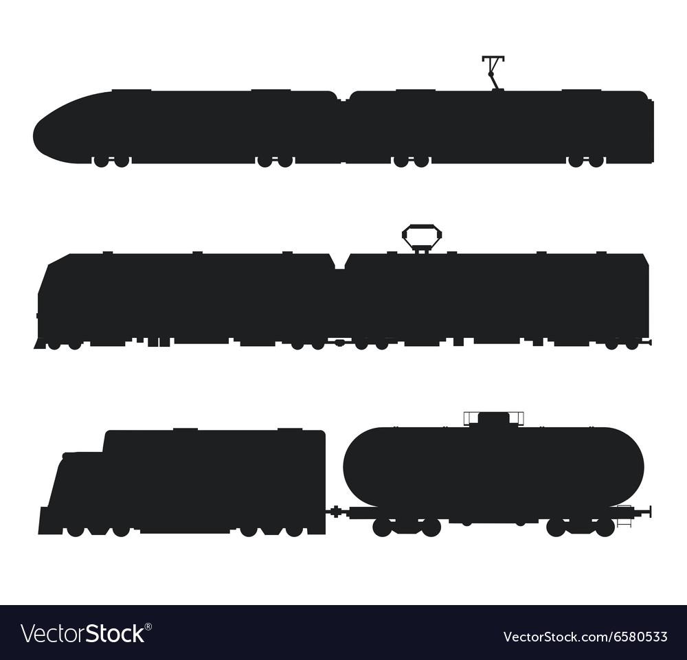 Modern vintage trains black and white