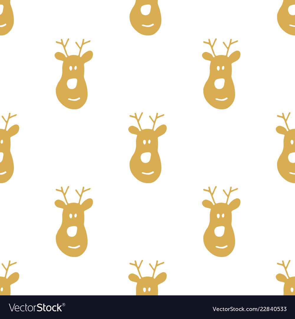 New year and christmas seamless pattern hand