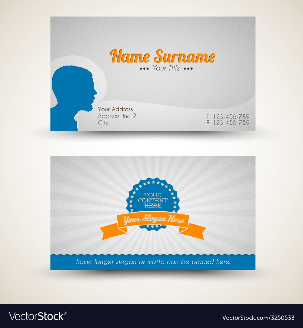 Old style retro vintage business card royalty free vector old style retro vintage business card vector image reheart Gallery