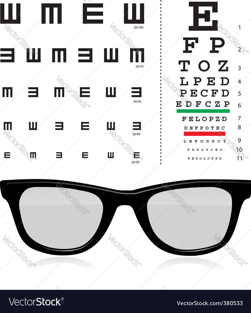 Vector Snellen Eye Test Chart Royalty Free Vector Image