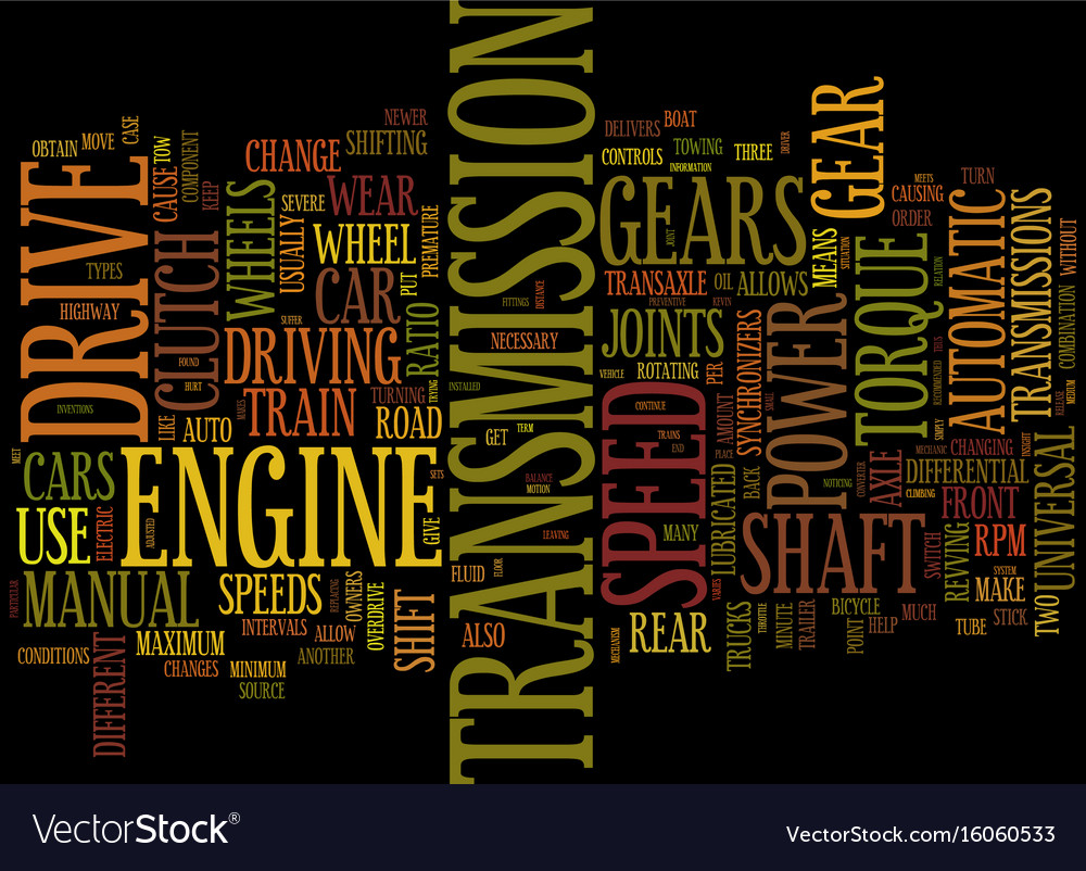 Your drive train explained text background word vector image