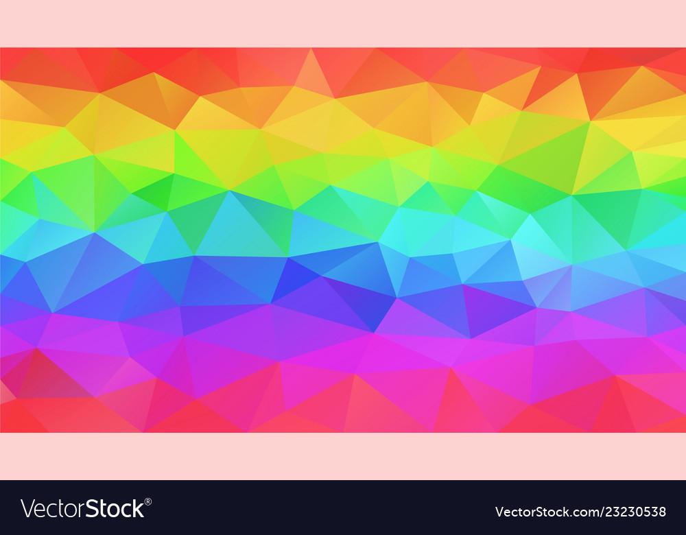 Abstract polygonal background neon rainbow