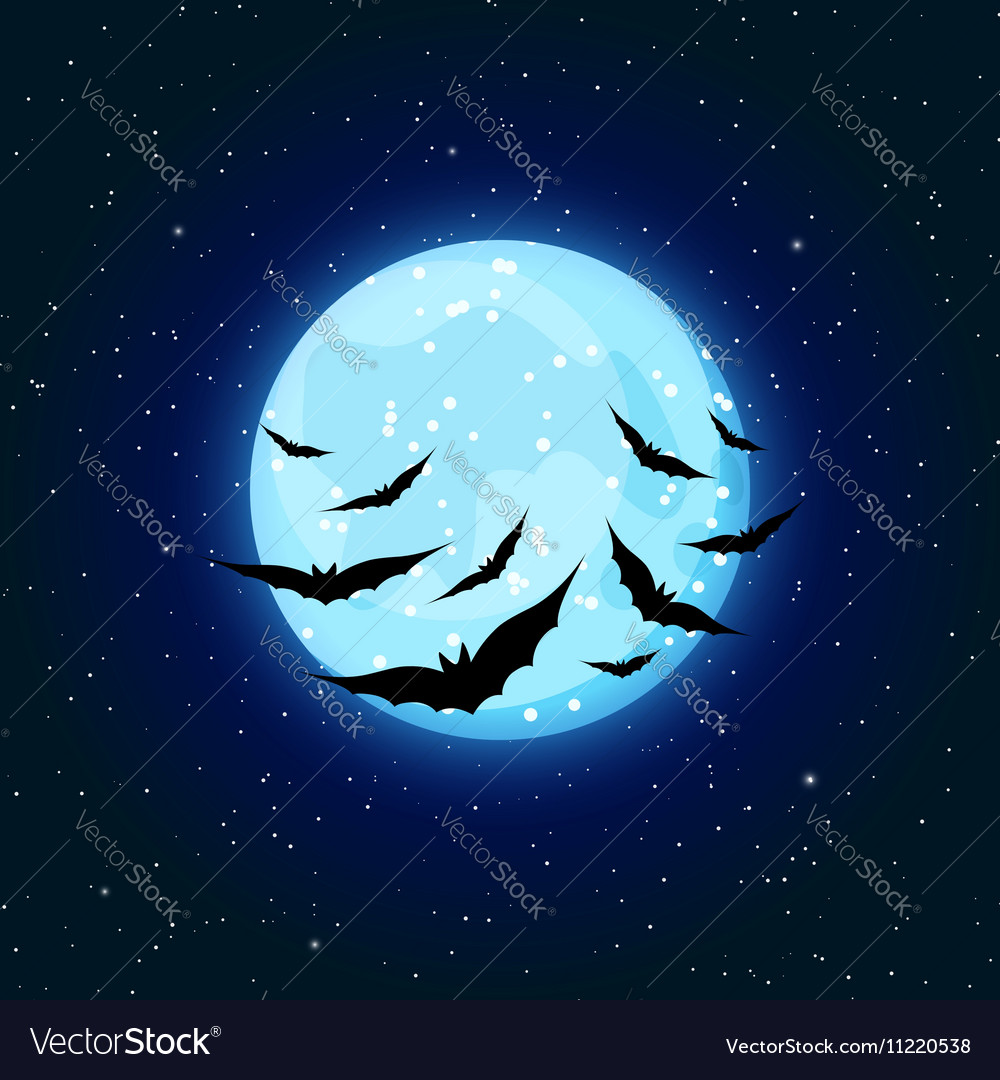 Blue moon and bats