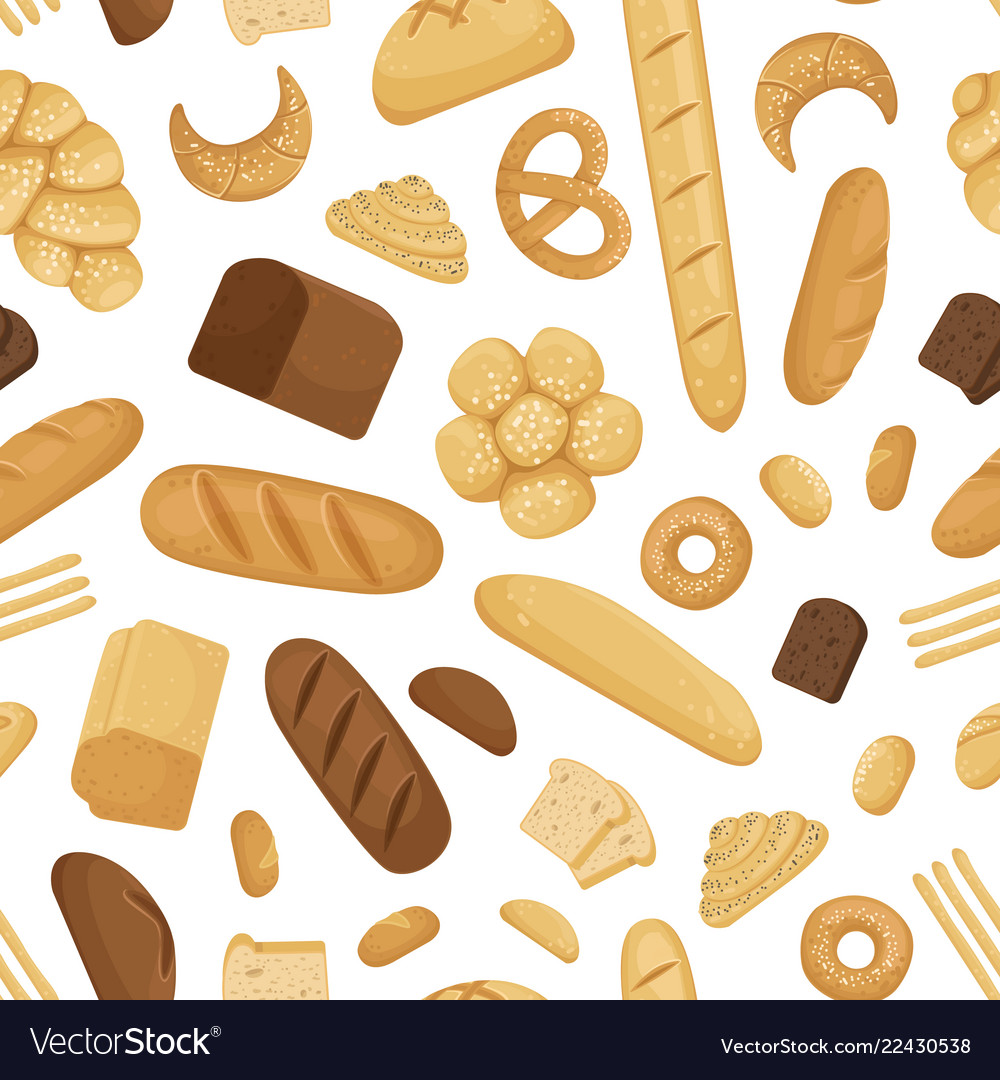 Cartoon bakery elements pattern or
