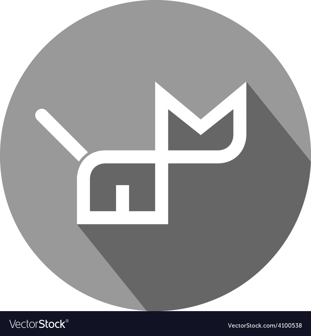 Cat flat icon Simple outline symbol