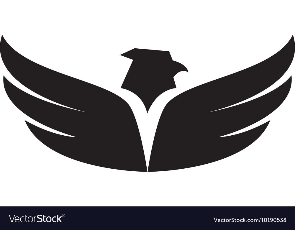 eagle wing open symbol icon graphic royalty free vector vectorstock
