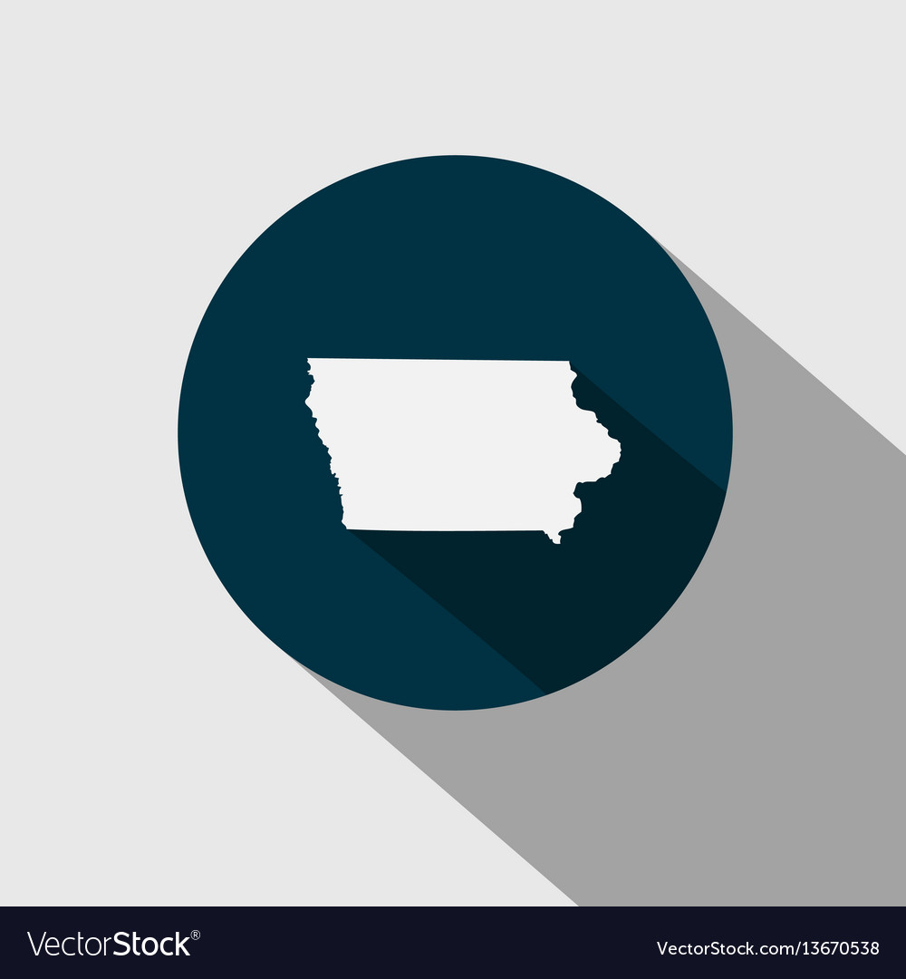 Map us state iowa