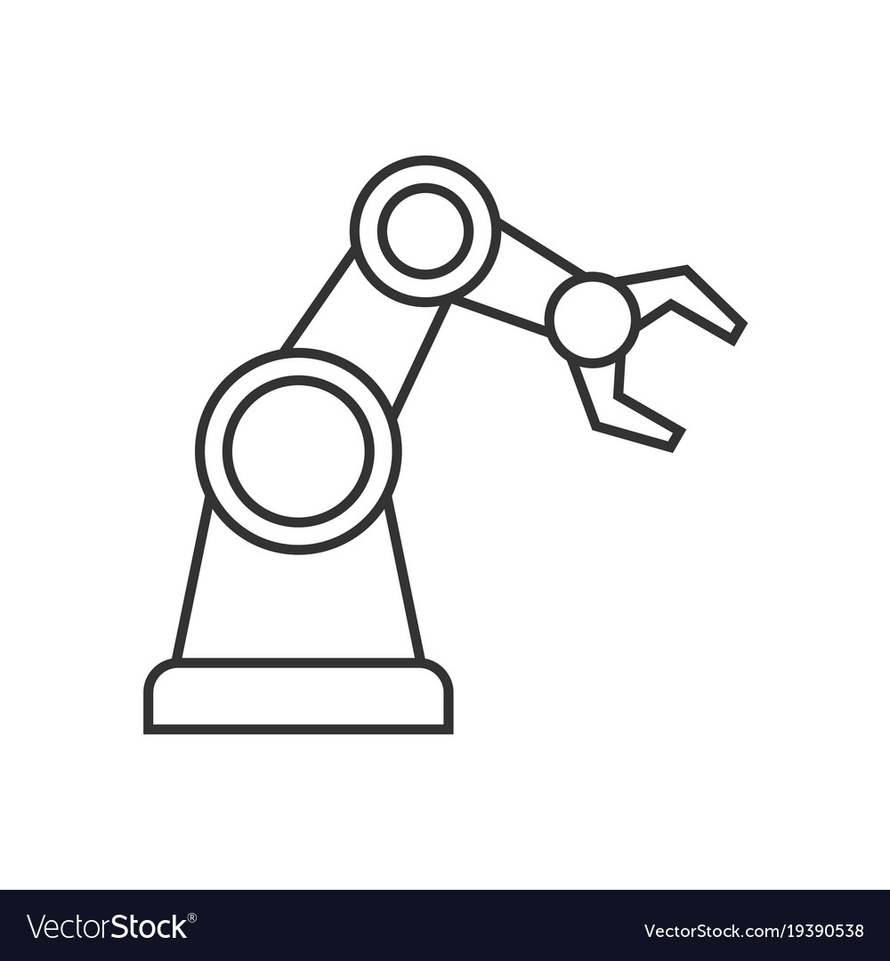 Robotic Arm Outline Icon Royalty Free Vector Image