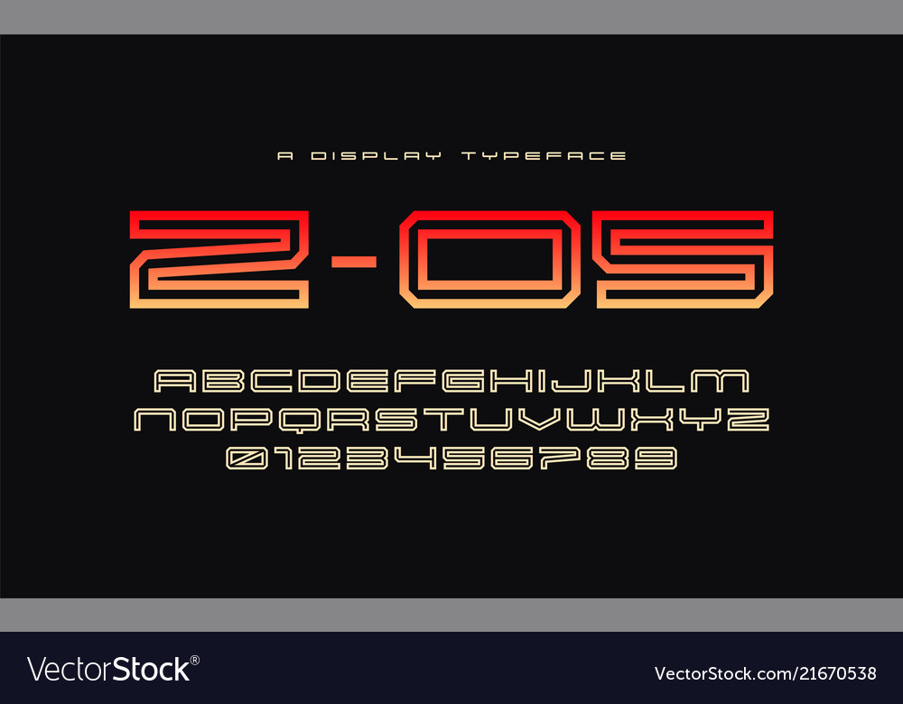 Z 05 display typeface font alphabet