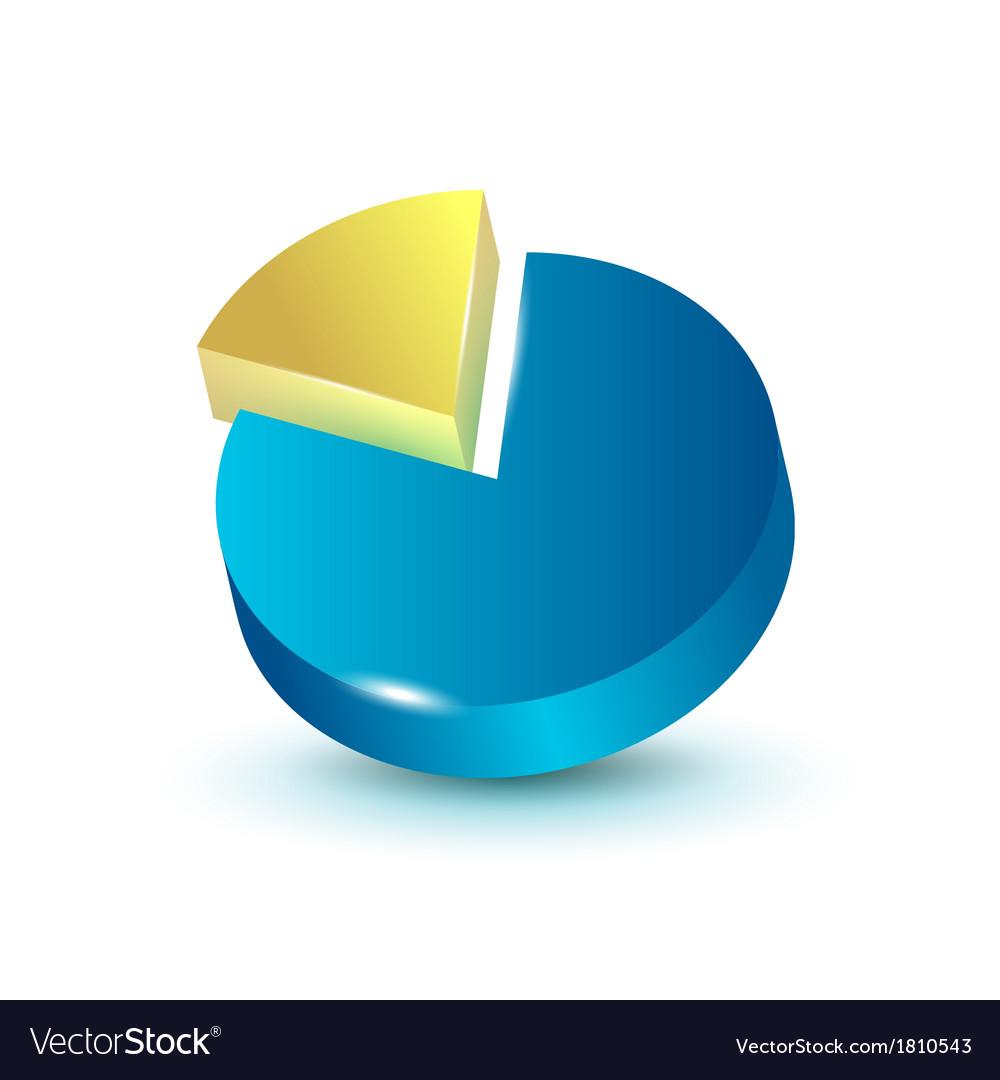 3d Pie Chart Royalty Free Vector Image Vectorstock