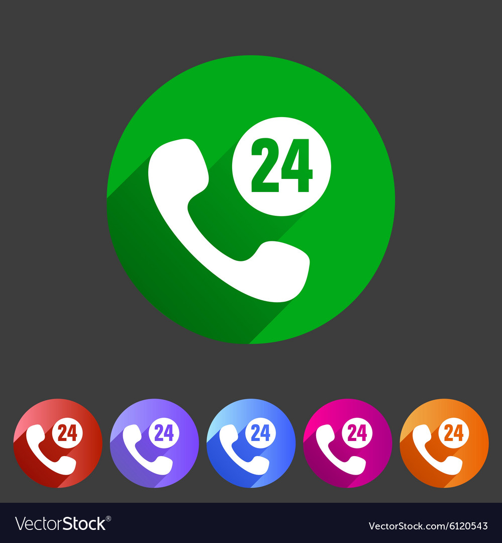 Call support center icon flat web sign symbol logo