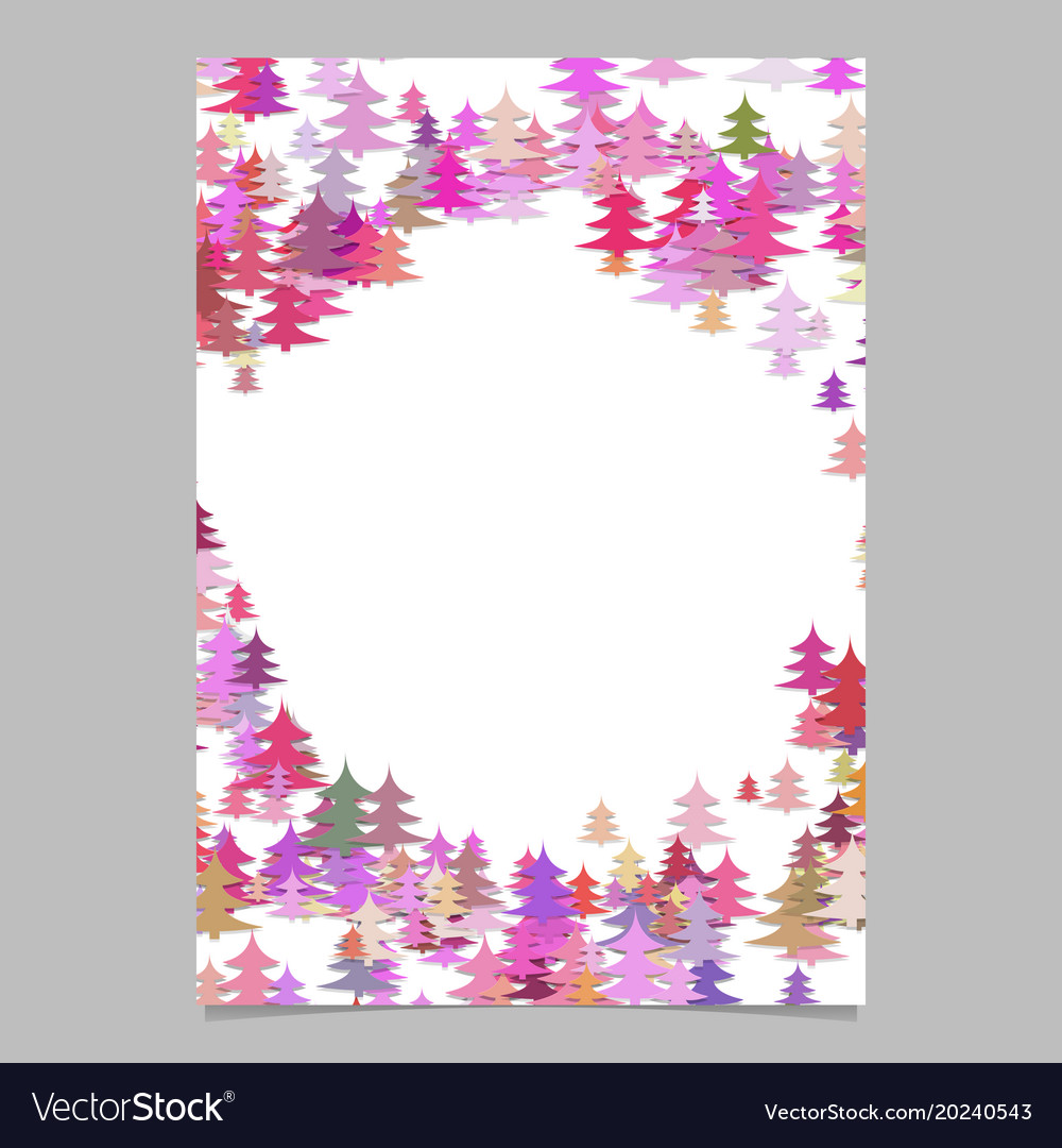 Christmas Pine Tree Flyer Template Blank Vector Image